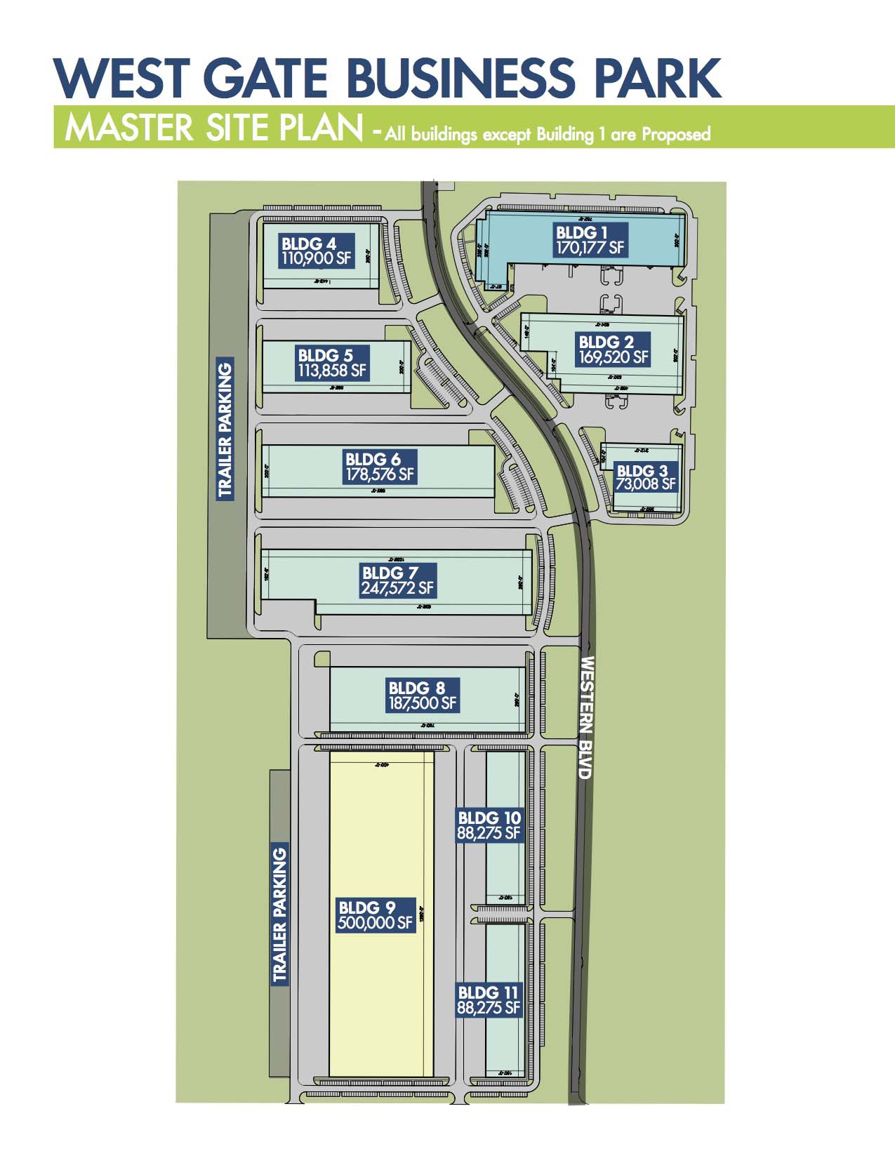 Westgate Business Park master site plan_website